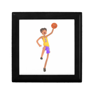 Boîte À Souvenirs Autocollant sautant d'action de joueur de basket