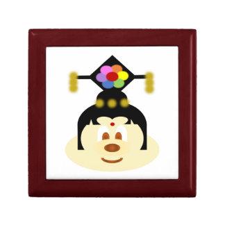Boîte À Souvenirs B blanc et boîte-cadeau femelle chinoise d'acajou