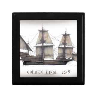 Boîte À Souvenirs Bateau d'or de 1578 Hinde