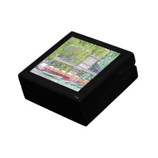 Boîte À Souvenirs Bateaux de cygne de Boston dans le filtre de