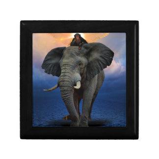 Boîte À Souvenirs beau heureux de bébé d'éléphant de joie animale