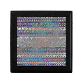 Boîte À Souvenirs Beau motif géométrique aztèque coloré frais
