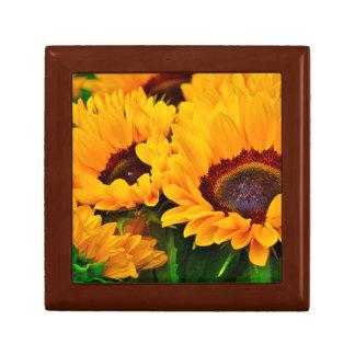 Boîte À Souvenirs Belle peinture jaune-orange de tournesol