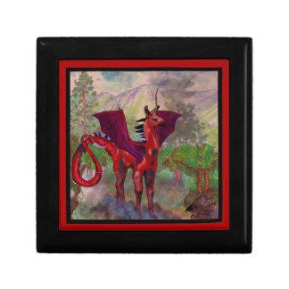 Boîte À Souvenirs Bête à ailes par batte rouge de Pegasus de licorne