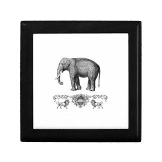 Boîte À Souvenirs bête grise d'éléphant