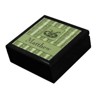 Boîte À Souvenirs Bibelot fait sur commande des textes de peau de