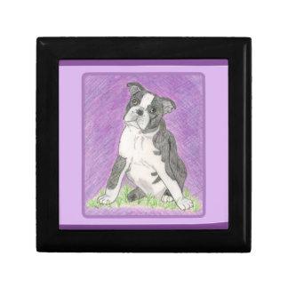 Boîte À Souvenirs Bijoux Boc de bull-terrier de Boston