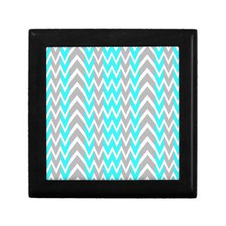 Boîte À Souvenirs Bleu au néon avec les ailerons gris