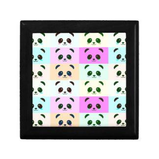 Boîte À Souvenirs Bleu de rose de jaune d'art de bruit d'ours panda