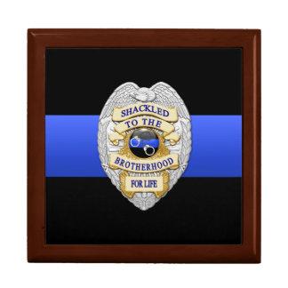 Boîte À Souvenirs Blue Line mince - la police conteste la cabine