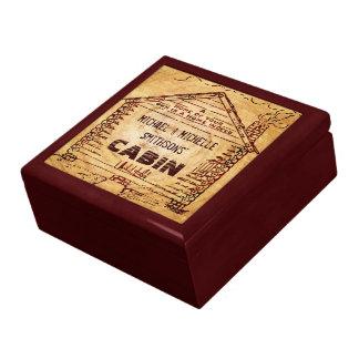 Boîte À Souvenirs Bois personnalisé de Faux de cabine de rondin