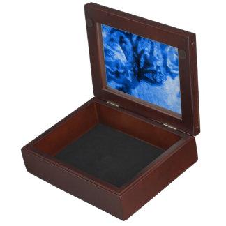 Boîte À Souvenirs Boîte antique de souvenir de rose de bleu
