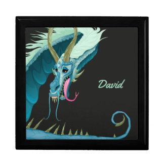Boîte À Souvenirs Boîte bleue de souvenir de dragon