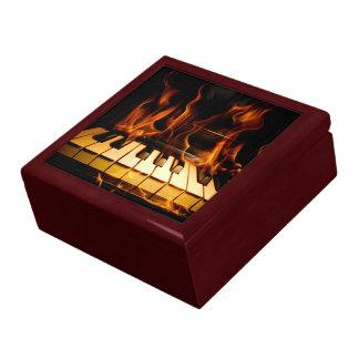 Boîte À Souvenirs Boîte brûlante de bibelot de piano