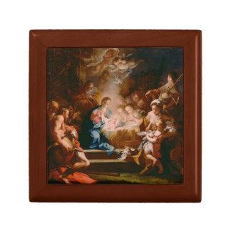 """Boîte À Souvenirs BOÎTE-CADEAU - adoration de peinture """"des bergers."""
