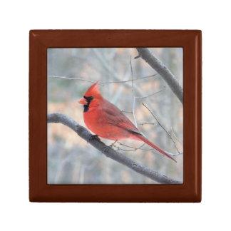 Boîte À Souvenirs Boîte-cadeau cardinale en bois de profil de crique