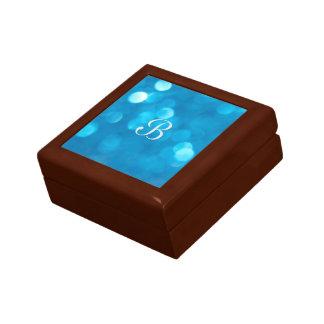 Boîte À Souvenirs Boîte-cadeau de bleu de Bokeh