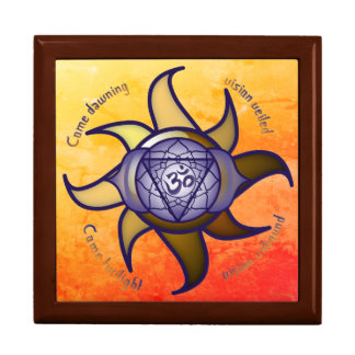 Boîte À Souvenirs Boîte-cadeau de tuile d'analyse de yoga de