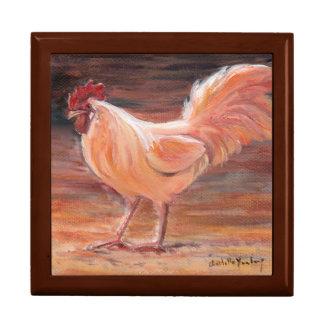 Boîte À Souvenirs Boîte-cadeau d'or de tuile d'art d'oiseau de coq