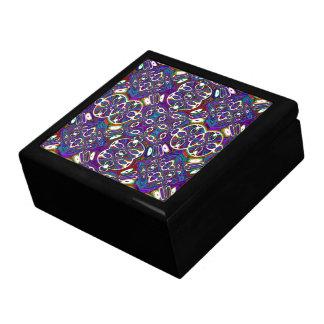 Boîte À Souvenirs Boîte-cadeau en bois laquée par Marocain abstrait