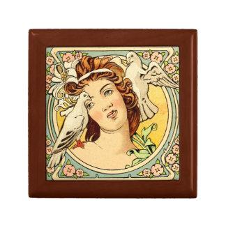 Boîte À Souvenirs Boîte-cadeau femelle 1 d'art déco