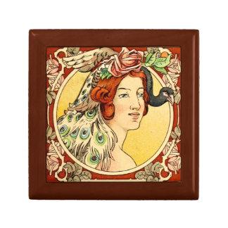 Boîte À Souvenirs Boîte-cadeau femelle 2 d'art déco