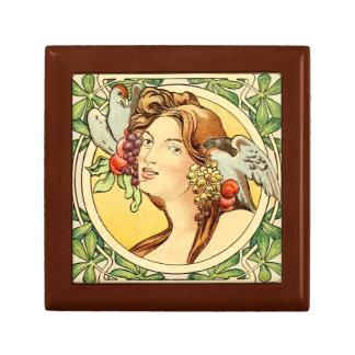 Boîte À Souvenirs Boîte-cadeau femelle 3 d'art déco