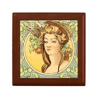 Boîte À Souvenirs Boîte-cadeau femelle 4 d'art déco