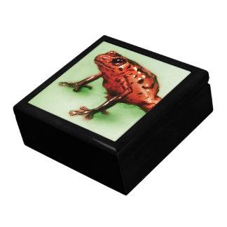 Boîte À Souvenirs Boîte-cadeau illustrée colorée de tuile -