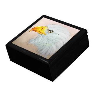 Boîte À Souvenirs Boîte-cadeau illustrée colorée de tuile - Eagle