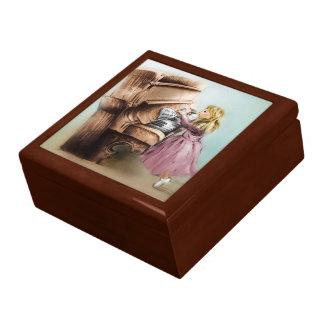 Boîte À Souvenirs Boîte-cadeau illustrée colorée de tuile - fille de