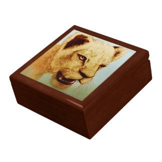 Boîte À Souvenirs Boîte-cadeau réaliste colorée de tuile de croquis