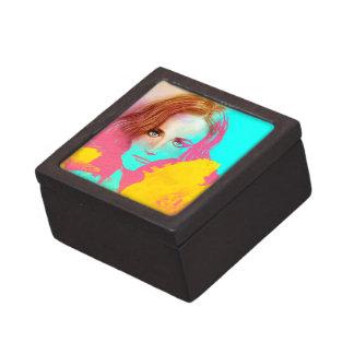 Boîte À Souvenirs Boîte-cadeau rose et jaune abstraite colorée -