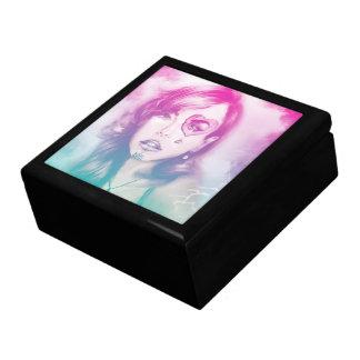 Boîte À Souvenirs Boîte-cadeau rose et noire colorée de tuile de