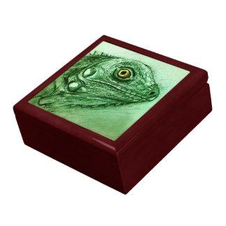 Boîte À Souvenirs Boîte-cadeau verte de tuile de croquis - iguane