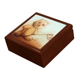 Boîte À Souvenirs Boîte-cadeau vintage colorée de tuile d'ours -