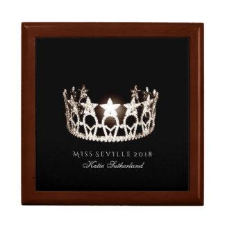 Boîte À Souvenirs Boîte de Jewerly de nom personnel de couronne de