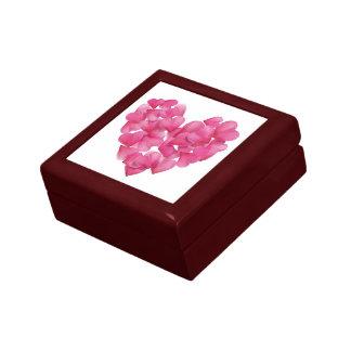 Boîte À Souvenirs Boîte de souvenir avec des coeurs de pétales de
