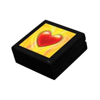 Boîte À Souvenirs Boîte de souvenir avec le coeur d'amour de lave