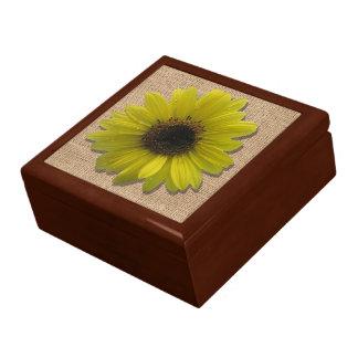 Boîte À Souvenirs Boîte de souvenir - toile de jute et tournesol