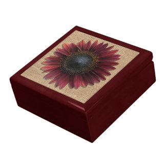 Boîte À Souvenirs Boîte de souvenir - tournesol de toile de jute et