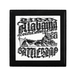 Boîte À Souvenirs Boîte en bois de souvenir de bijoux de l'Alabama