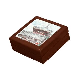Boîte À Souvenirs Boîte en bois de souvenir de chêne du Japon de