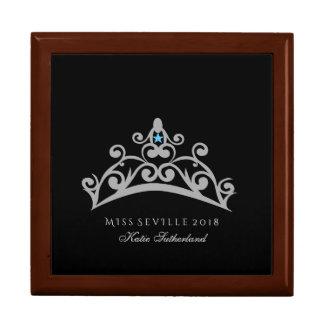 Boîte À Souvenirs Boîte faite sur commande de Jewerly de couronne de