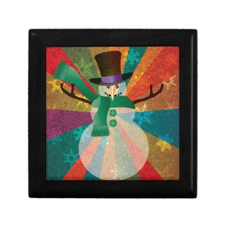 Boîte À Souvenirs Bonhomme de neige de Noël avec les flocons de