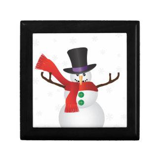 Boîte À Souvenirs Bonhomme de neige de Noël avec l'illustration de