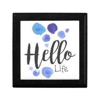 Boîte À Souvenirs Bonjour aquarelle H stylisé de signe de promo de