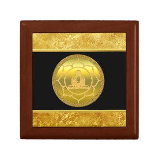 Boîte À Souvenirs Bouddha faisant la feuille d'or de chant religieux