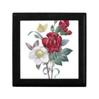 Boîte À Souvenirs bouquet d'anémone et d'oeillets