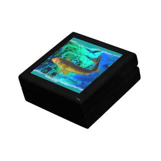 Boîte À Souvenirs Brochets vairons de natation, art de poissons de P